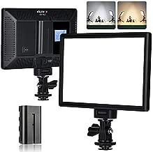 VILTROX L116T Key Light LED Video Light Kit,3300K-5600K On Camera Video Light Video Conference Live Broadcast Light with NP-F550 Lithium Battery