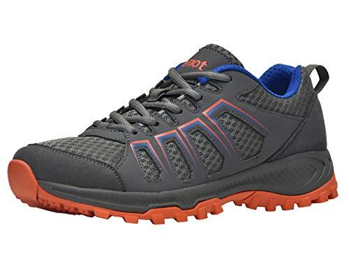 riemot Zapatillas Deportivas para Hombre, Zapatos de Trail Running, Trekking, Senderismo, Montaña, Transpirables Sneakers Deportivas Casual Zapatos para Correr Orange-07