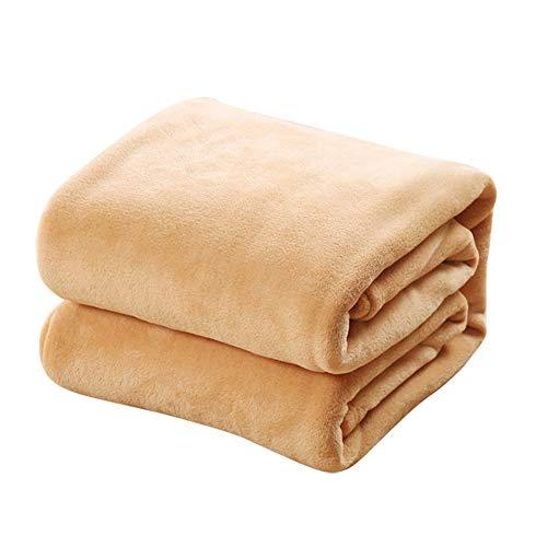 TREESTAR Mantas de bebé para niños otoño e Invierno bebé recién Nacido Copo de Nieve pequeña Manta de Pelo Manta de Siesta Size 70 * 100CM (Khaki)