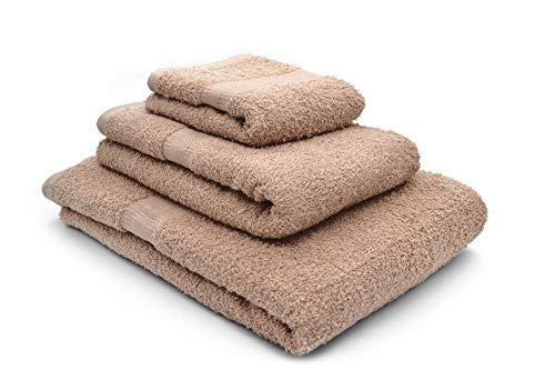 Juego de 3 toallas de 8 colores Nuvola Home Collection (beige)