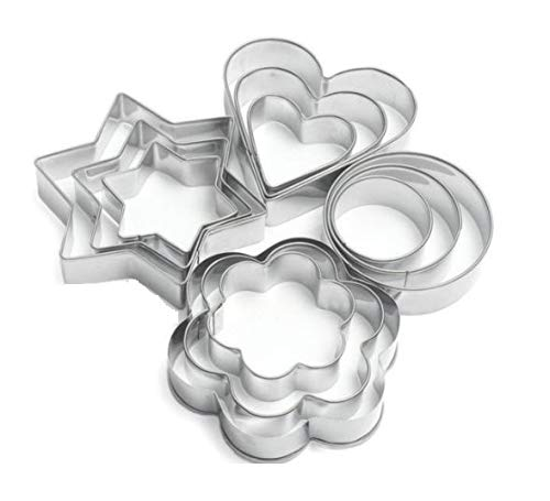 SYGA 12 Pieces Cookie Cutter Stainless Steel Cookie Cutter with Different Shape