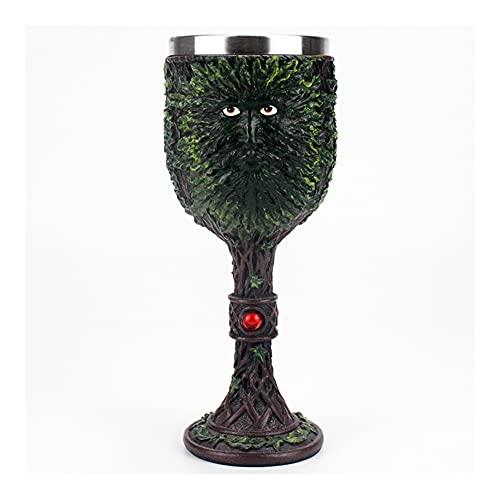 Iinger Copa gótica 3D Vikingo de Acero Inoxidable Resina de Acero Inoxidable Copa de Vino dragón Garra Esqueleto Columna Vertebral Whisky Taza Vino Vino Ajuste para Halloween