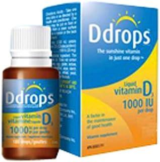 Ddrops - 液體維生素D3 365 下降 1000 IU - 0.34盎司