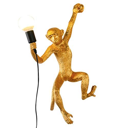 DYJD AFFE lamp woonkamer wandlamp verlichting apen lamp, geschikt voor eetkamer slaapkamer studio bar apen wandlamp, goud