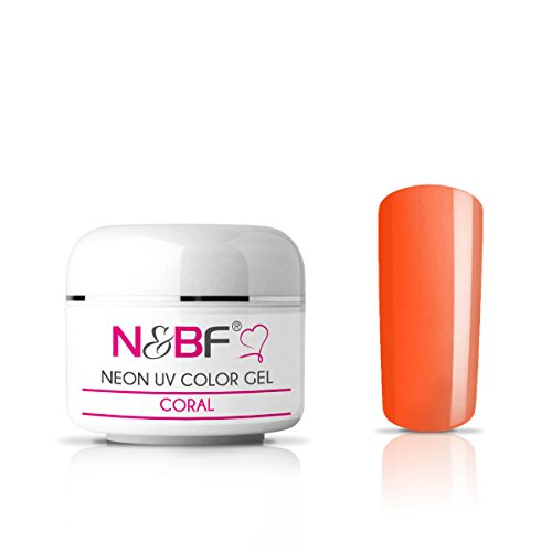 Gel couleur Fluo Coral 5 ml-Premium Professional UV Color Gel