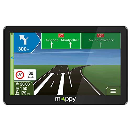 GPS Camion - GPS Poids Lourds - Mappy GPS Maxi X755 TRUCK (Écran : 7 Pouces - 44 pays - Mise à jour gratuite jusqu'à 4 fois par an) Noir
