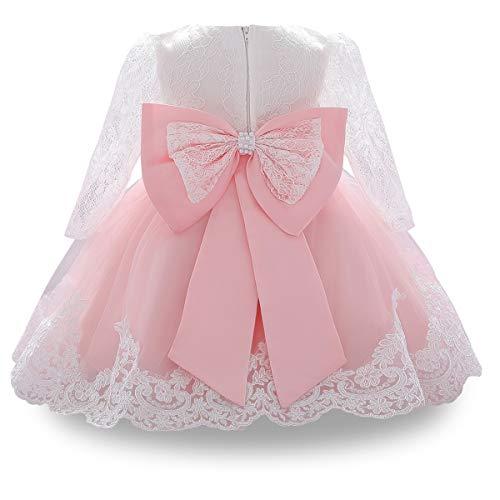 WOCINL Vestido tutú de manga larga para bautizo y bautizo, para princesa,...