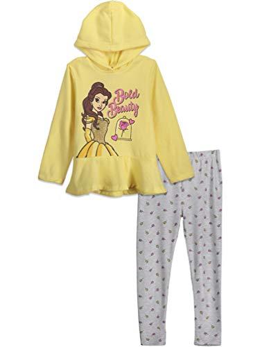 Disney Beauty and the Beast Princess Belle Toddler Girls Pullover Hooded Legging Set 4T