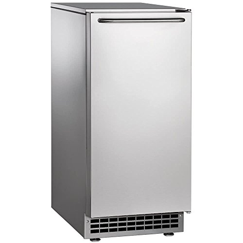 "Scotsman CU50PA-1A Undercounter Ice Maker, Gourmet Cube, Air Cooled, Pump Drain with Cord, 115V/60/1-ph, 14.4 Amp (15 Amp Circuit Required), 14.9"" Width x 22"" Diameter x 34.4"" Height"