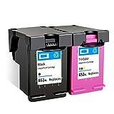 PPKB Cartucho de tinta remanufacturado 652XL para HP 652XL negro y color para usar con Deskjet 1115 1118 2135 2136 2138 2675 2676 2677 2678 3635 3636 (1 Blac Negro+Color