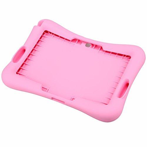 NEWSTYLE Silicio Bambini Antiurto Custodia Protettiva per Samsung Galaxy Tab 4 10.1' SM-T530 /T531 /T535 con Tab 3 10.1 P5200 / P5210 / P5220 - Pink