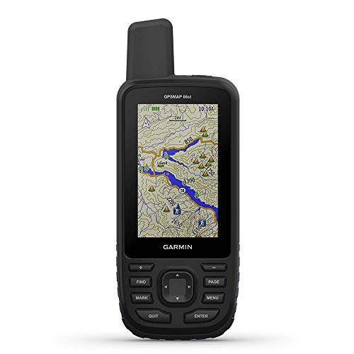 "Garmin GPSMAP 66st, Handheld Hiking GPS with 3"" Color Display, Topo Maps and GPS/GLONASS/Galileo Support (010-01918-10) (Renewed)"