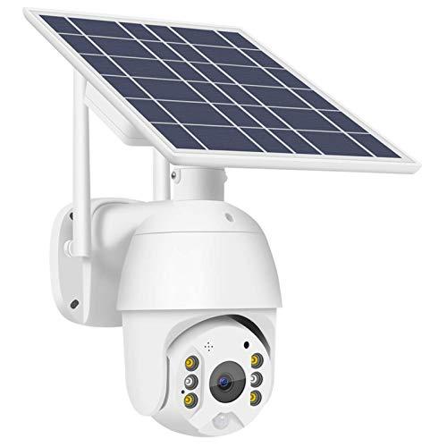 Cámara inalámbrica para exteriores, cámara solar WIFI, 1080P, conversación bidireccional, visión nocturna, resistente al agua, sensor de cuerpo humano PIR compatible con almacenamiento en la nube