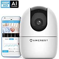 Amcrest 1080P Indoor PTZ Smart Home WiFi Camera Baby Monitor
