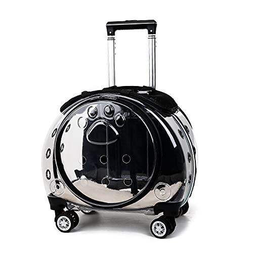 Sizwea Caja de la carretilla del animal doméstico portátil bolsa transparente bolsa multifuncional mascota caja de aire de la burbuja