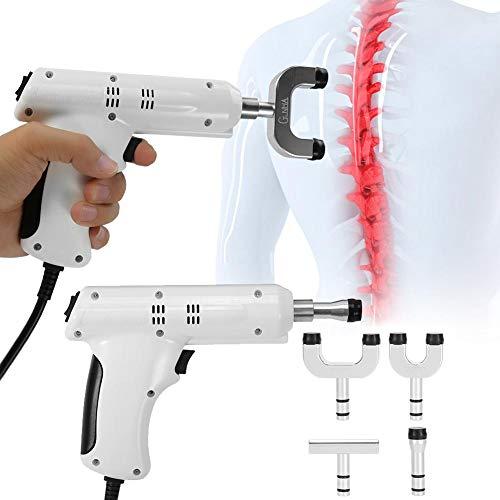 Pistola de masaje, pistola de masaje eléctrica, herramienta de ajuste de ajuste quiropráctico de 3 niveles, relajación muscular completa (EU)