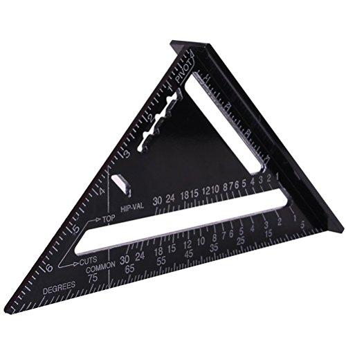 UEETEK 7 Zoll Aluminium dreieckige Platte Dreieck Lineal
