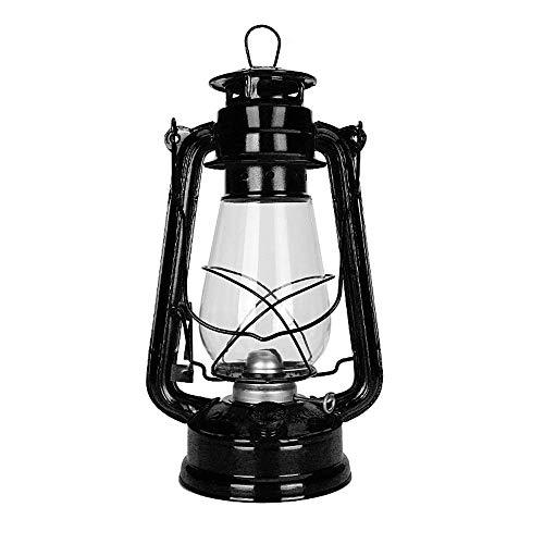 GYC Petroleumlampe Alte Öllampe Altmodische Öllampe Kerosinlampe Retro Country Nostalgic Air Light Tragbare Lichtlaterne für den Notfall bei Campingstromausfall