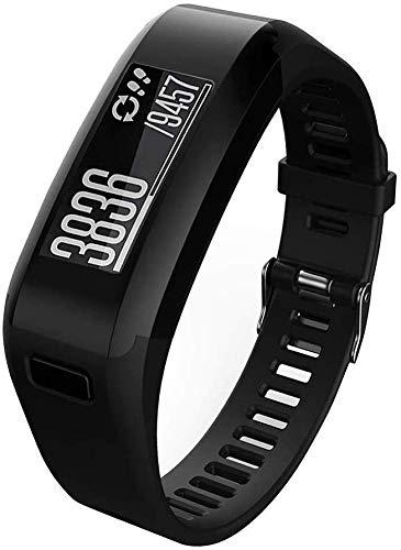 Meoket Compatible para Garmin Vivosmart HR Smart Watch,Correa de Silicona Garmin Vivosmart HR Smart Watch (Negro)