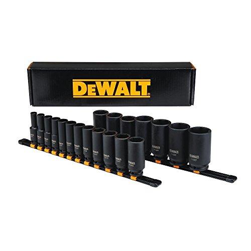 DEWALT Deep Impact Socket Set, 19-Piece, 1/2 Drive SAE (DWMT19239)