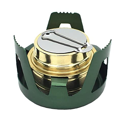 EElabper Portable Outdoor Burner, Windproof Camping Stove for Camping, Hiking, Traveling, Kitchen Equipment, Green, 1pc