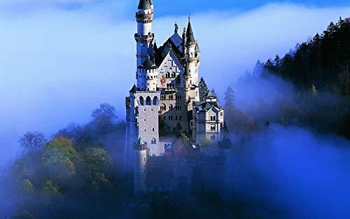Rompecabezas Para Adultos 1000 Piezas Castillo De Piedra Gris En Las Montañas De Alemania Montaje De Madera Decoración Para El Hogar Juego De Juguetes Juguete Educativo Para Niños Y Adultos