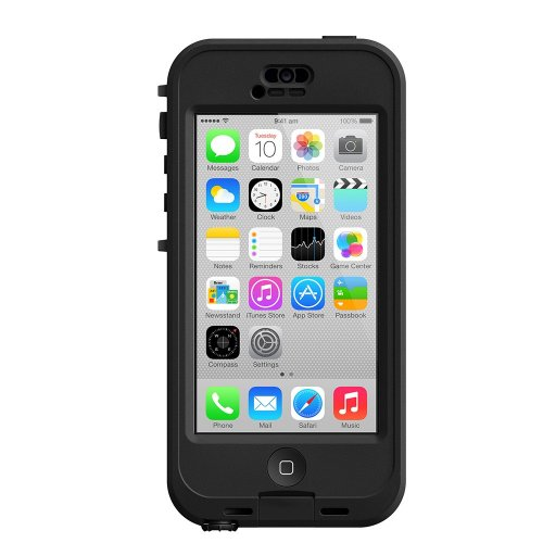 LifeProof NÜÜD iPhone 5c Waterproof Case - Retail Packaging - BLACK/CLEAR