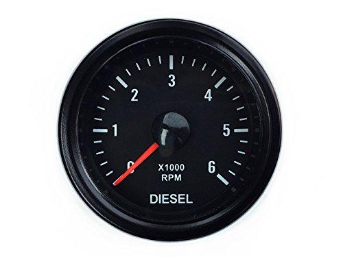 Tachymètre pour indicateur diesel 52 mm - Pour alternateur - Instrument auxiliaire - tr/min RPM universel