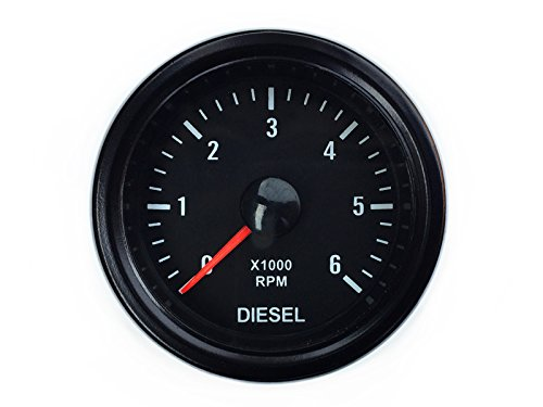 Drehzahlmesser für Diesel Anzeige 52mm für Lichtmaschine Zusatzinstrument Zusatzanzeige Instrument Drehzahl U/Min RPM universal
