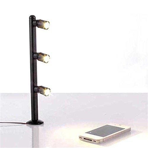Poste de luz LED vertical para escaparate, tocador, vitrina de joyas, oficina, 2 W, 3 W, Warm White;noir, 3W 250mm