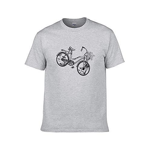 N/ A Heren Cruiser Beach Retro Fiets Wandelen T-Shirt Graphic Tops
