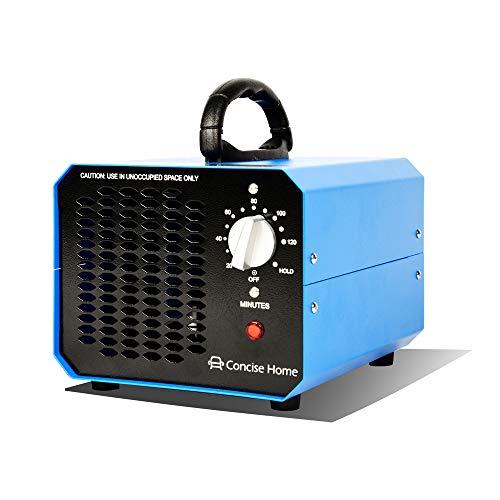 Concise Home Azul, 10000 mg, 03, ozonizador comercial, purificador de aire de ozono industrial, negro, mejorador de aire, esterilizador de aire