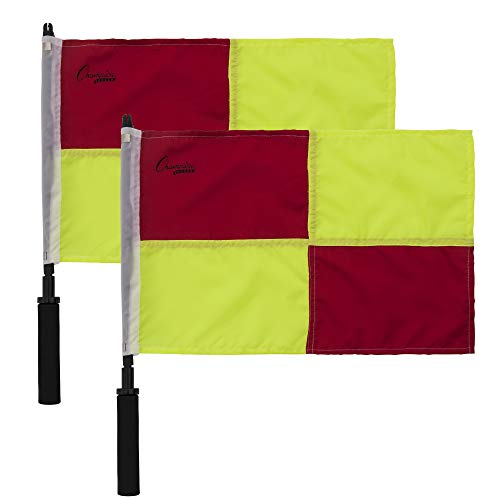 Champion Sports Soccer Linesman Official Checkered Flag