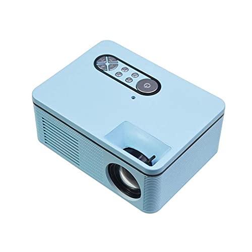 ZHAOHGJ Worth Having - Proiettore con Lo Schermo di proiezione, Mini proiettore Full HD 1080p supportati, proiettore HD Video proiettore Portatile Compatibile for Film all'aperto, Blu (Color : Blue)