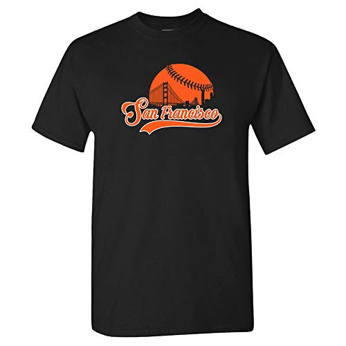 San Francisco Baseball Skyline Shirt (2XL) Black