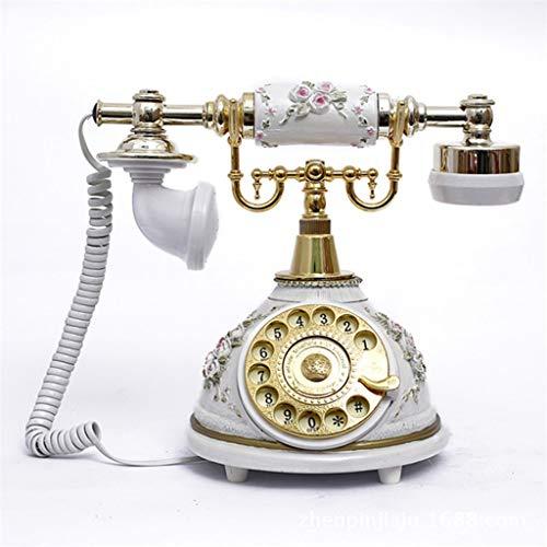 Yxsd Vintage platenspeler in ouderwetse stijl, mechanische bel, telefoon