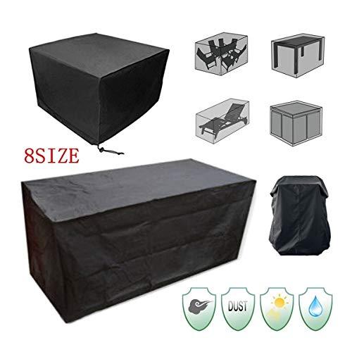 FYZS Negro Impermeable De Muebles De La Cubierta, Al Aire Libre Jardín Rattan Cubo Protegido, Patio Cubierto Mesa Muebles, Reclinable Cubierta A Prueba De Polvo