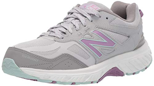 New Balance Women's 510 V4 Trail Running Shoe, Rain Cloud/Twilight Rose, 8.5 M US