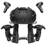 MoKo Universal VR Ständer, Touch-Controller Display Headset Stand Halter Kompatibel mit Oculus Quest Oculus Rift/Rift S/Go, HTC Vive, Google Daydream, Samsung Gear - Schwarz