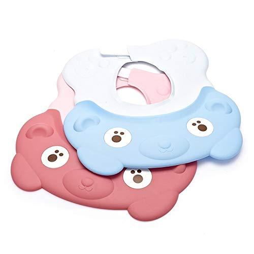 Children'S Shampoo Cap Adjustable Cotton Baby Shower Cap Protective Shampoo Baby Waterproof Earmuffs Soft Silicone Shampoo Cap 2Pcs