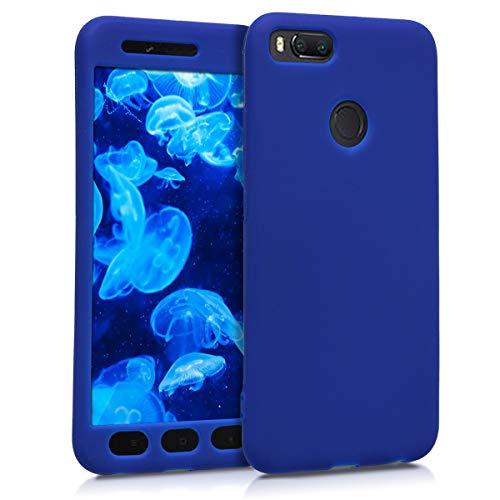 kwmobile Funda Compatible con Xiaomi Mi 5X / Mi A1 - Carcasa Completa para móvil - Case de Silicona en Azul Oscuro