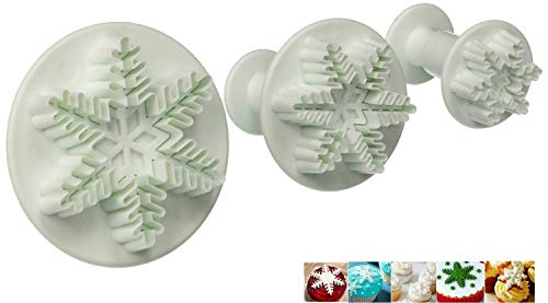 Snowflake Fondant Cutters,ELINKA 6 Pcs Cake Cookie Cutter...