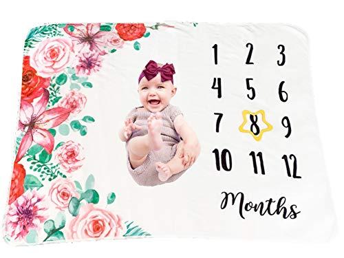 Snuggle Shack Baby - Manta para bebé (129,5 x 101,6 cm, suave de 300 g/m², para siestas, tiempo de barriga y fondo de fotos, recuerdo para recién nacidos