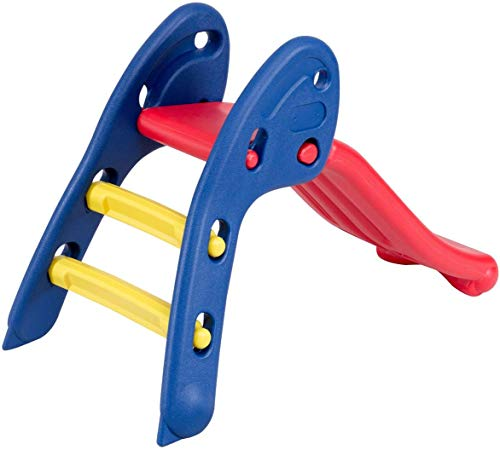 ReunionG Folding Slide for Kids, First Slide with Climb and Slide 2-1 Design, Children Play Slide Perfect as Birthday