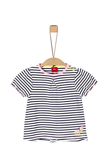 s.Oliver Junior Baby-Mädchen 405.10.004.12.130.2037948 T-Shirt, 57G6 Blue Stripes, 92