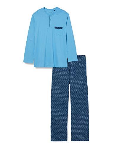 Schiesser Herren Schlafanzug lang' Pyjamaset, hellblau, 52