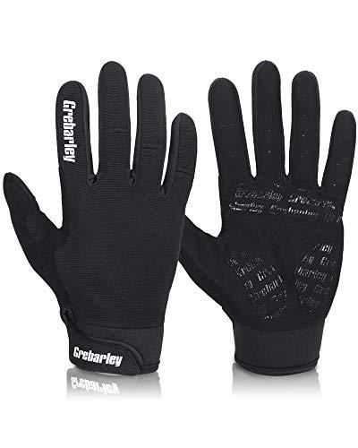 Grebarley Cycling Gloves Mountain Bike Gloves MTB Gloves Bicycle Dirt Bike Gloves for Men Women Full Finger Touch Screen Biking Gloves Anti-Slip Shock-Absorbing Gel Pad Workout Gloves