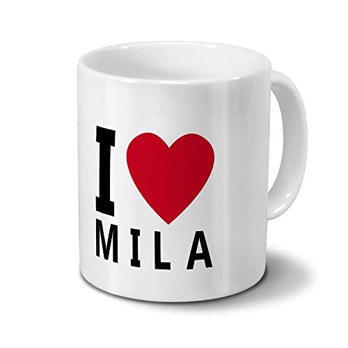 Tasse mit Namen Mila - Motiv