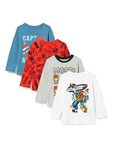 Spotted Zebra Disney Star Wars Marvel Long-Sleeve T-shirt, 4er Pack, Marvel Hero...