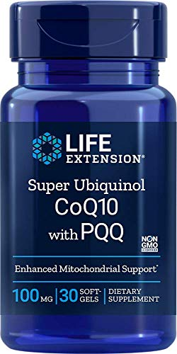 Life Extension Super Ubiquinol CoQ10 with PQQ, 100 mg, 30 softgels 0737870173335